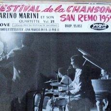 Discos de vinilo: MARINO MARINI SAN REMO 1959 EP. Lote 293653088