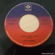 Discos de vinilo: THE MUPPETS (LOS TELEÑECOS) – MAHNA MAHNA +1 SINGLE DE 1977 (SIN CARÁTULA) EXCELENTE ESTADO. Lote 293667118