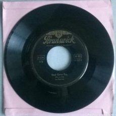 Discos de vinilo: LES PAUL TRIO. GUITAR BOOGIE/ STEEL GUITAR RAG. BRUNSWICK, GERMANY 1954 SINGLE. Lote 293676658