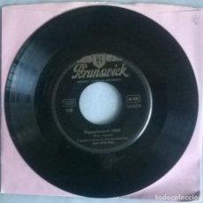 Discos de vinilo: GLENN MILLER STORY. PENNSYLVANIA 6-5000/ LITTLE BROWN JUG. BRUNSWICK, GERMANY 1954 SINGLE. Lote 293678083