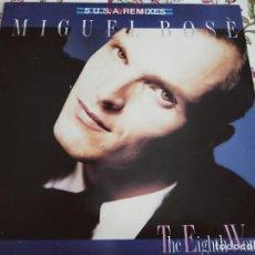 """Discos de vinilo: MIGUEL BOSÉ – THE EIGHTH WONDER .1988. SELLO: WEA – 247933-0. (12"""").NUEVO. MINT / VG+++. Lote 293681103"""