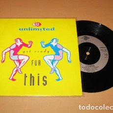Discos de vinilo: 2 UNLIMITED - GET READY FOR THIS - SINGLE - 1991. Lote 293690068