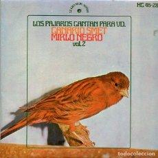 Discos de vinilo: LOS PAJAROS CANTAN PARA VD. (CANARIO SMET VOL.2) EP HISPAVOX 1971). Lote 293700973