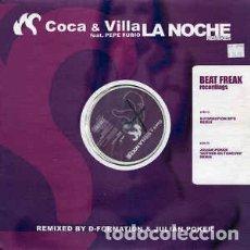 Discos de vinilo: COCA + VILLA - LA NOCHE (REMIXES). Lote 293703533