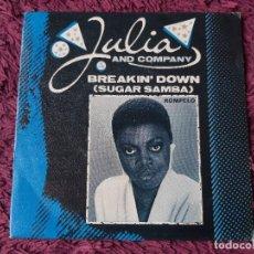 """Discos de vinilo: JULIA AND COMPANY – BREAKIN' DOWN, VINILO,7"""" SINGLE 1983 SPAIN 9-09 021. Lote 293713593"""