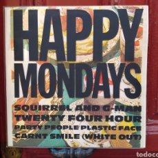 Discos de vinilo: HAPPY MONDAYS–SQUIRREL AND G-MAN TWENTY FOUR HOUR PARTY PEOPLE PLASTIC FACE CARNT SMILE-LP VINILO. Lote 293714308