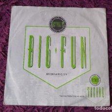 "Discos de vinilo: INNER CITY – BIG FUN, VINILO,7"" SINGLE 1988 GERMANY 111 749-100. Lote 293719303"