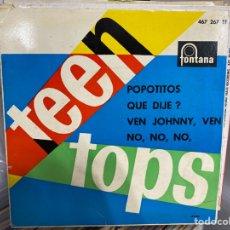 """Discos de vinilo: LOS TEEN TOPS - POPOTITOS (7""""). Lote 293730508"""