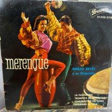 """Discos de vinilo: EMILIO REYES Y SU ORQUESTA - MERENGUE (7"""", EP). Lote 293734523"""