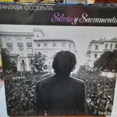 Discos de vinilo: SILVIO Y SACRAMENTO - FANTASÍA OCCIDENTAL - LP. SELLO MANO NEGRA RECORDS 1988. Lote 293750823