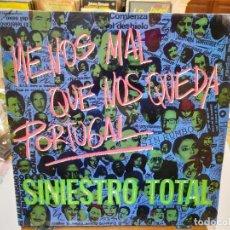 Discos de vinilo: SINIESTRO TOTAL - MENOS MAL QUE NOS QUEDA PORTUGAL - LP. SELLO DRO 1984. Lote 293751288