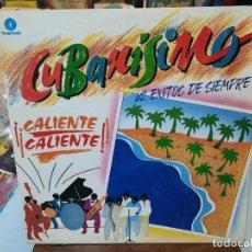 Discos de vinilo: CUBANÍSIMO - ¡¡CALIENTE CALIENTE!! (62 ÉXITOS DE SIEMPRE) - DOBLE LP. SELLO FONOMUSIC 1989. Lote 293753763