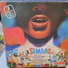 Discos de vinilo: SAMBAS - TOQUINHO, VNICIUS DE MORAES, ... - DOBLE LP. DEL SELLO PUZZLE 1980. Lote 293754368
