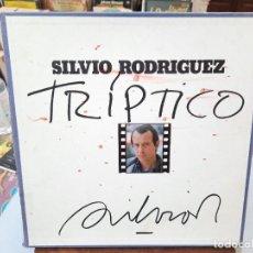 Discos de vinilo: SILVIO RODRÍGUEZ - TRÍPTICO - TRIPLE LP. + LIBRETO FONOMUSIC 1984. Lote 293754783