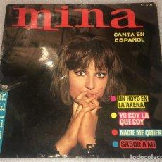Discos de vinilo: EP MINA EN ESPAÑOL - UN HOYO EN LA ARENA Y OTROS TEMAS - BELTER 51.410 - PEDIDO MINIMO 7€. Lote 293760863