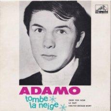 Discos de vinilo: ADAMO - TOMBE LA NEIGE (EP EDITADO EN PORTUGAL). Lote 293777398