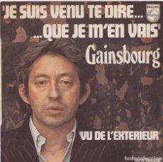 Discos de vinilo: SERGE GAINSBOURG - JE SUIS VENU TE DIRE QUE JE M'EN VAIS (EDITADO EN FRANCIA). Lote 293781718