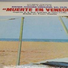 Discos de vinilo: LP MUERTE EN VENECIA // BANDA SONORA. Lote 293801028