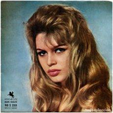 Discos de vinilo: RENÉ CLOEREC - EN CAS DE MALHEUR (MUSIQUE ORIGINALE DU FILM) - SG FRANCE 1958 - VERSAILLES - B.B.. Lote 293814948