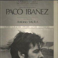 Discos de vinilo: PACO IBAÑEZ VISTO POR ANTONIO SAURA. Lote 293817618