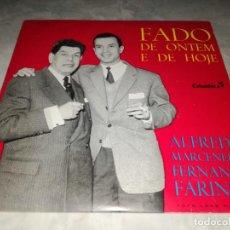 Discos de vinilo: ALFREDO MARCENEIRO-FERNANDO FARINHA-FADO DE ONTEM E DE HOJE. Lote 293820443