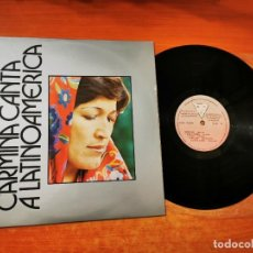 Discos de vinilo: CARMIÑA GALLO CANTA A LATINOAMERICA ORQUESTA FILARMONICA BOGOTA LP VINILO 1982 COLOMBIA 10 TEMAS. Lote 293825793