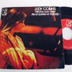 Discos de vinilo: JUDY COLLINS-SINGLE HECHO CON MIEL. Lote 293841988