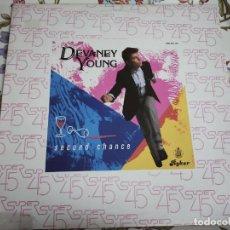 "Discos de vinilo: DEVANEY YOUNG* - SECOND CHANCE. 1984. (12"") SELLO:HISPAVOX CAT. N.º: 549 161.NUEVO. MINT / VG+++. Lote 293842578"