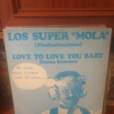 Discos de vinilo: DONNA SUMMER / SALSOUL ORCHESTRA / LOS SUPER MOLA / PROMOCIONAL / ARIOLA 1975. Lote 293843133