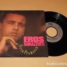 Discos de vinilo: EROS RAMAZZOTTI - TERRA PROMESSA - SINGLE - 1989. Lote 293844518