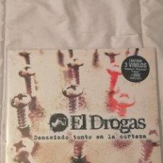 Discos de vinilo: 3X LP VINILO ED. LIMITADA EL DROGAS DEMASIADO TONTO EN LA CORTEZA + DVD ( BARRICADA LOS SUAVES...). Lote 293869463