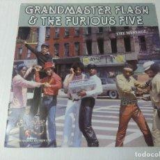 Discos de vinilo: GRANDMASTER FLASH & THE FURIOUS FIVE/THE MESSAGE/VINILO ROJO.. Lote 293881198