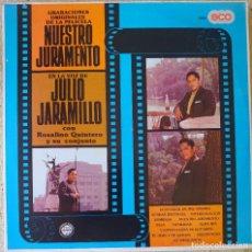 Discos de vinilo: JULIO JARAMILLO LP EDITADO EN ECUADOR POR EL SELLO ECO AÑO 1981 BANDA SONORA DE.... Lote 293883628
