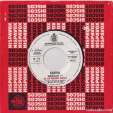 Discos de vinilo: KARINA - EN UN MUNDO NUEVO (PROMO - EUROVISIÓN 1971). Lote 293886403