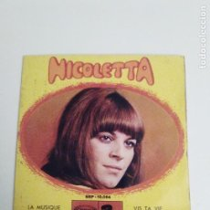 Discos de vinilo: NICOLETTA LA MUSIQUE 32 SEPTEMBRE VIS TA VIE PENSE A LETE ( 1967 RIVIERA SONOPLAY ESPAÑA ). Lote 293888783
