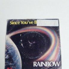 Discos de vinilo: RAINBOW SINCE YOU'VE BEEN GONE / BAD GIRLS ( 1979 POLYDOR ) VINILO BIEN CARPETA GASTADA Y PEGATINA. Lote 293891423