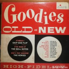 """Discos de vinilo: DOO WOP, ROCK & ROLL LP, """"GOODIES OLD AND NEW"""" TIME RECORDS ORIGINAL USA 1961. Lote 293891728"""
