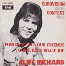 Discos de vinilo: CLIFF RICHARD - CONGRATULATIONS (EUROVISIÓN 1973). Lote 293895813