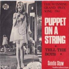 Discos de vinilo: SANDIE SHAW - PUPPET ON A STRING (EDITADO EN DINAMARCA - EUROVISIÓN 1967). Lote 293896143
