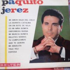 Discos de vinilo: PAQUITO DE JEREZ BELTER 1966. Lote 293904363