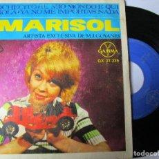 Discos de vinilo: MARISOL DISCO HECHO EN MEXICO CABRIOLA , EL COCHECITO , YA NO ME IMPORTADAS NADA , IL MIO MONDO E Q. Lote 293929403
