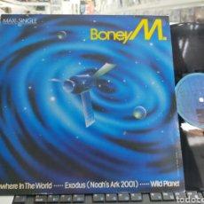 Discos de vinilo: BONEY M. MAXI SOMEWHERE IN THE WORLD + 2 ESPAÑA 1984. Lote 293932793