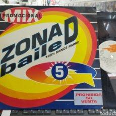 Discos de vinilo: ZONA D BAILE 5 MIX MAXI PROMOCIONAL 1994 RAREZA. Lote 293933483