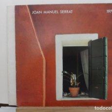 Discos de vinilo: JOAN MANUEL SERRAT - 1978 - LP - VINILO - CONTIENE LIBRETO INTERIO CON LAS LETRAS.. Lote 293933588