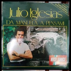 Discos de vinilo: D. LPS. JULIO IGLESIAS. DA MANUELA A PENSAMI DOS LPS. 1991.. Lote 293933648