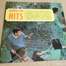 Discos de vinilo: REUNION CON HITS, LP, JOHNNY HALLYDAY - LA CASA DEL SOL NACIENTE + 13, AÑO 1965. Lote 293940493