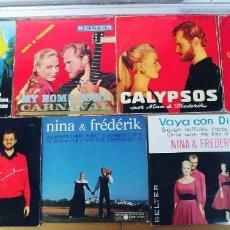 Discos de vinilo: NINA Y FREDERIK,LOTE DE 7 EPS. Lote 293945488
