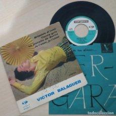 Discos de vinilo: VICTOR BALAGUER - BRICCIOLE DI LUNA +3 - MUY RARO EP VERGARA DE 1962 DEDICADO POR EL ARTISTA. Lote 293954623