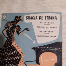 Discos de vinilo: GRACIA DE TRIANA- DE LA CAVA- VILLANCICOS DE TRIANA- PHILIPS 1961. Lote 293963928