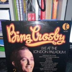 Discos de vinilo: DOBLE LP DE BING CROSBY. LIVE AT THE LONDON PALLADIUM. EDICIÓN K-TEL. DOBLE PORTADA.. Lote 293963993